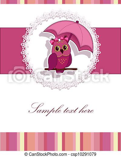 A beautiful card with the owl - csp10291079