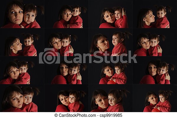 A beautiful Caucasian mother with her daughter - csp9919985