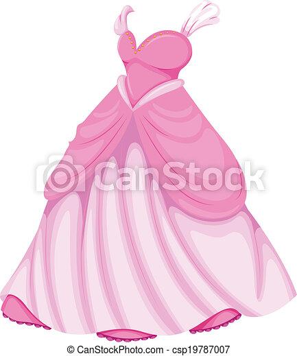 A beautiful pink dress - csp19787007