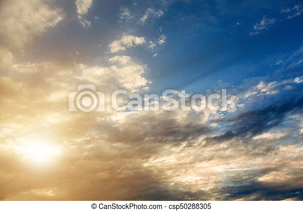 A beautiful sunset sky over the sea. - csp50288305