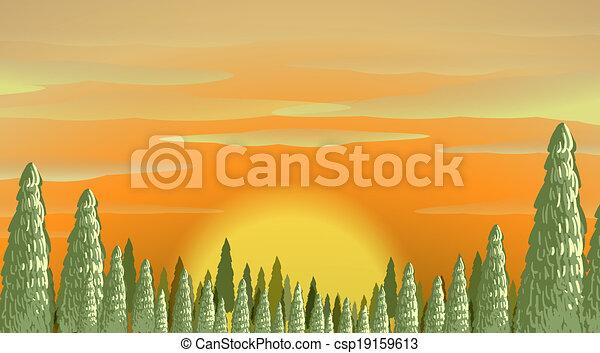 A beautiful sunset - csp19159613