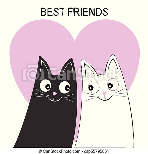A Beautiful Two Cute Cats Keep The Heart With Lettering I Love You Picture For T Shirt Graphics For Kids And Other Uses