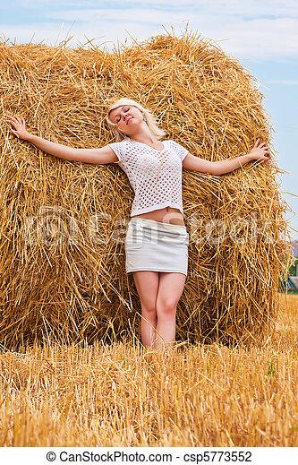 A beautiful young woman - csp5773552