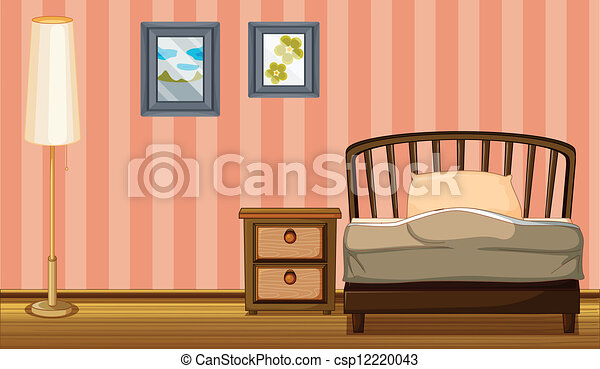 A bed and a lamp - csp12220043