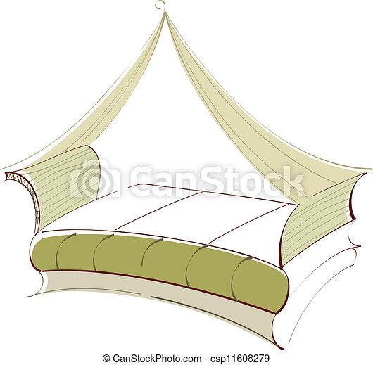 A bed - csp11608279