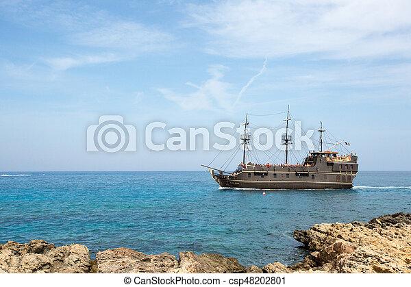 A big beautiful ship in the sea, Cyprus - csp48202801