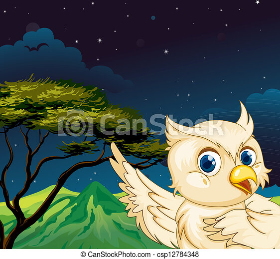 A big bird in the forest - csp12784348