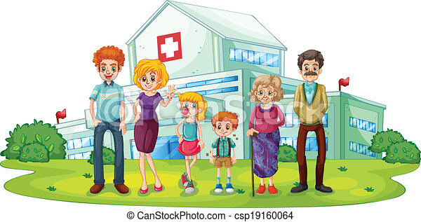 A big family near the hospital - csp19160064