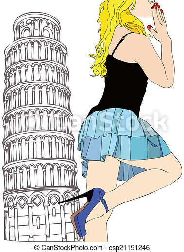 A big kiss from Pisa - csp21191246