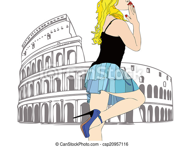 A big kiss from Rome - csp20957116