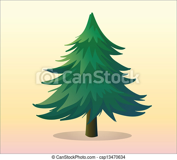 A big pine tree - csp13470634