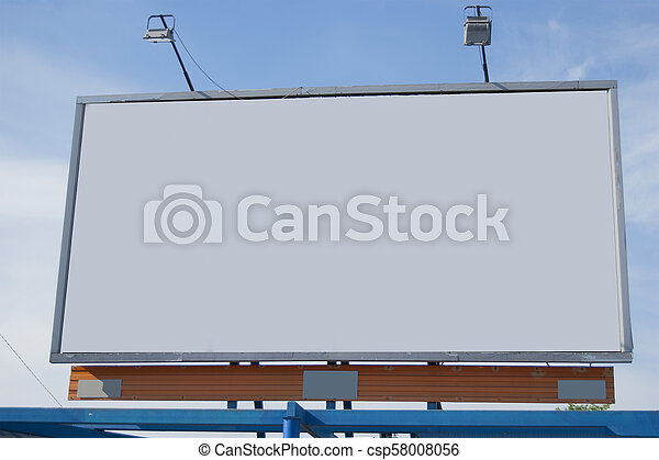 A billboard without inscriptions, empty - csp58008056