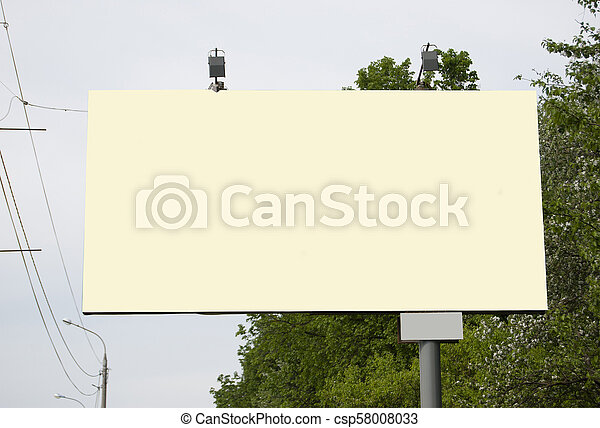 A billboard without inscriptions, empty. - csp58008033