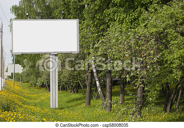 A billboard without inscriptions, empty. - csp58008035