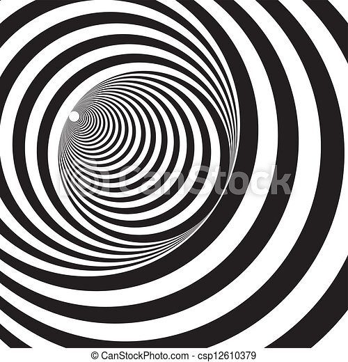 A black and white relief tunnel. optical illusion. vector ...