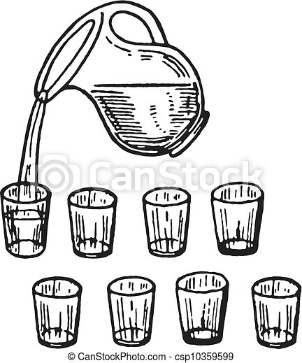 Pouring Water Pitcher Clip Art