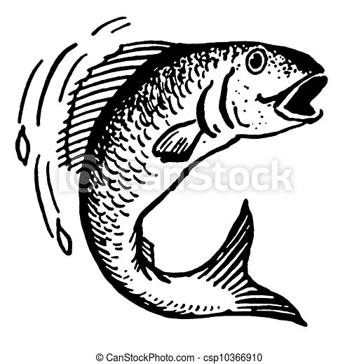 A Black And White Version Of An Illustration Fish Out Water
