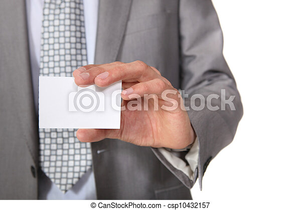 A blank business card - csp10432157