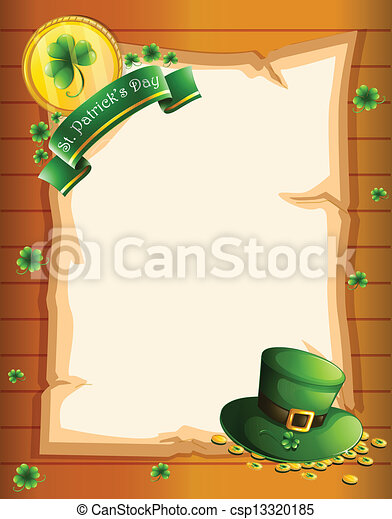 A blank sheet for St. Patrick's Day - csp13320185