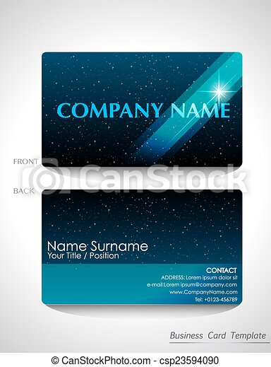 A blue business card design a sparkling blue business card design a blue business card design csp23594090 wajeb Images