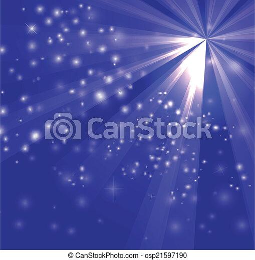 A blue color design with a burst  - csp21597190