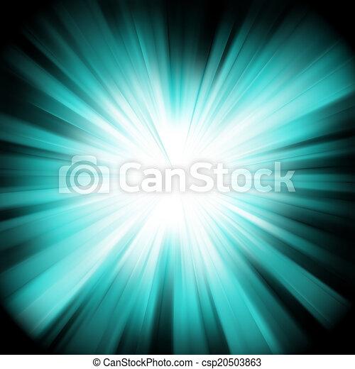 A Blue color design with a burst. EPS 8 - csp20503863