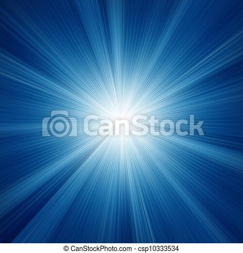 A Blue color design with a burst. EPS 8 - csp10333534