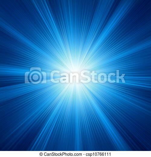 A Blue color design with a burst. EPS 8 - csp10766111