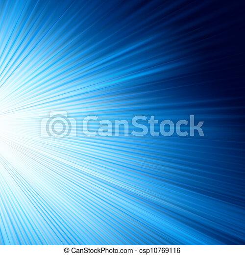 A Blue color design with a burst. EPS 8 - csp10769116