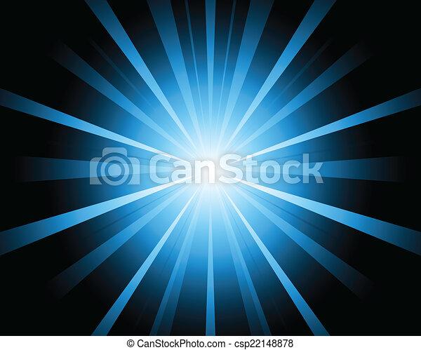 A blue color design with a burst  - csp22148878