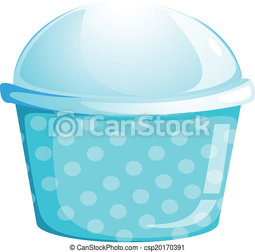 A blue cupcake container - csp20170391