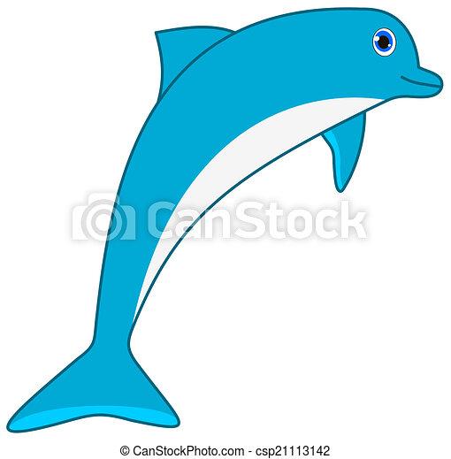 a blue dolphin - csp21113142