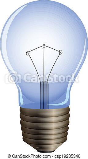 A blue light bulb - csp19235340