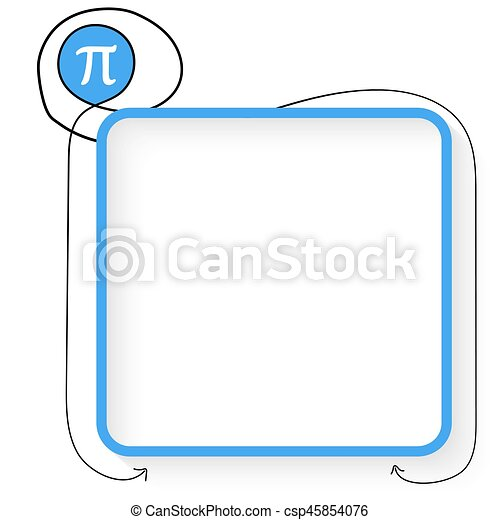 A Blue Text Box And Pi Symbol
