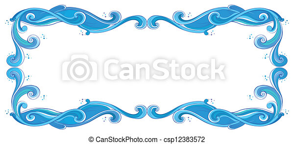 A blue unique border - csp12383572