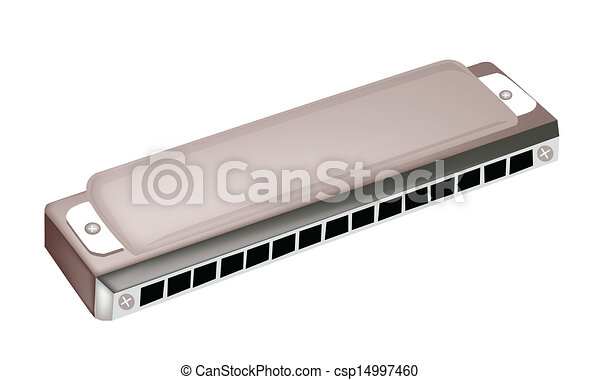 a blues harmonica isolated on white background a harmonica clip rh canstockphoto com Harmonica Player Clip Art harmonica clipart black and white