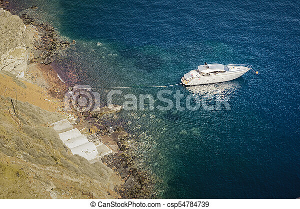 a boat in the ocean - csp54784739