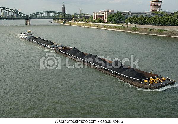 a boat on Rhein - csp0002486