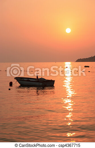 a boat on the water - csp4367715