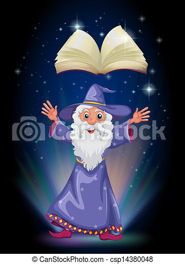 A book above the wizard  - csp14380048