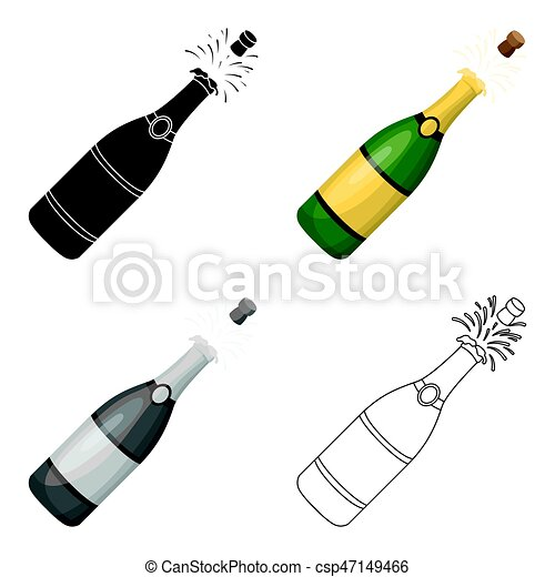 Bouteille De Champagne Dessin a bottle of champagne with a cork.party and parties single icon in