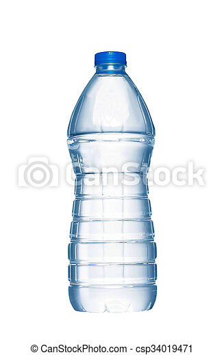 A bottle of water on white background - csp34019471