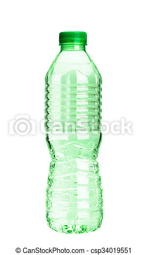 A bottle of water on white background - csp34019551