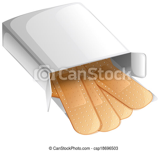 A box of band-aids - csp18696503