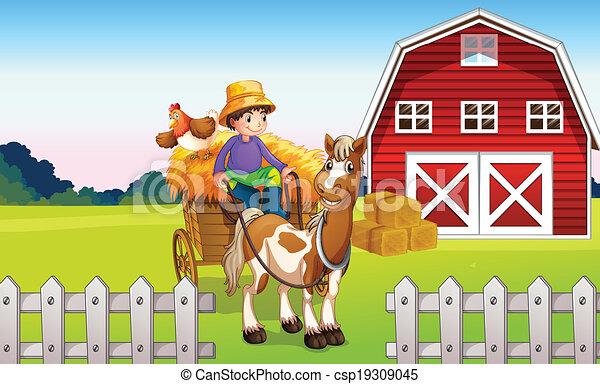 A boy at the farm - csp19309045