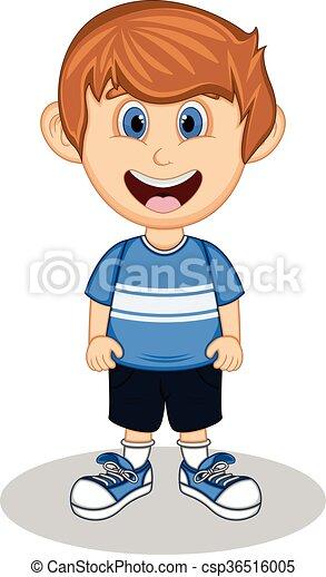 A boy cartoon - csp36516005