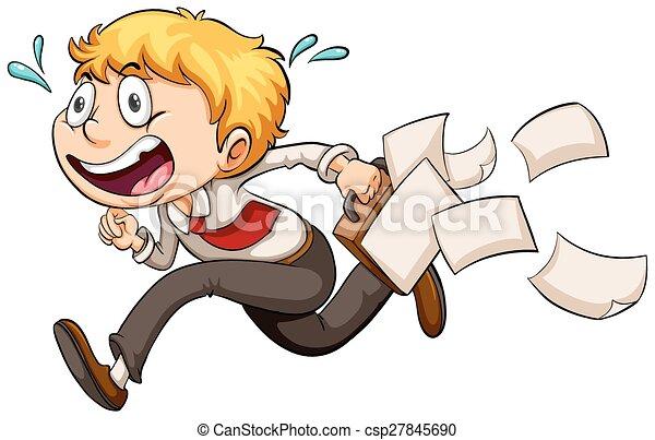 A boy in a hurry - csp27845690