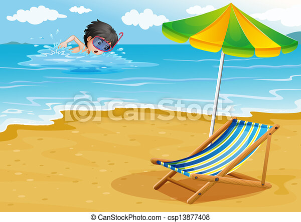 Swimming At The Beach Clipart
