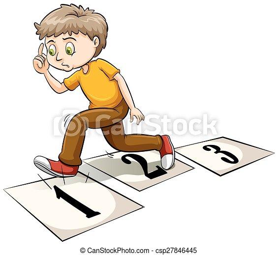A boy thinking - csp27846445