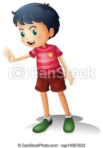 A boy with a stripe shirt - csp14067633